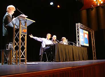 Debat in het bibliotheektheater