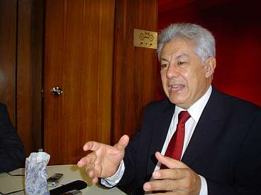 De fractievoorzitter van de PT in het parlement, Chinaglia