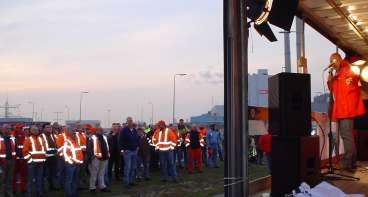 Actie in de Rotterdamse haven