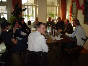Cyrill, Geert, Bruno, Tiny, Yorick, Niko, Bert, Herman en Adam.