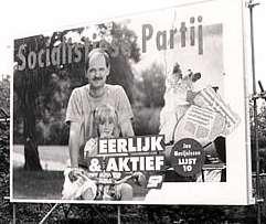 Lilian en ik in de campagne in 1989