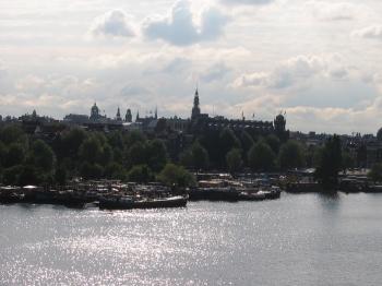 Amsterdam vanaf dak Nemo