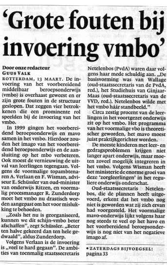 NRC, 13 maart 2004